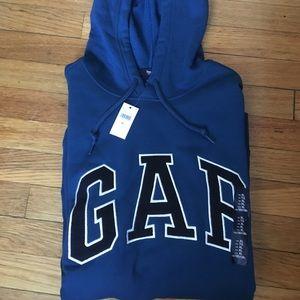 Gap Men's Blue Pullover Hoodie